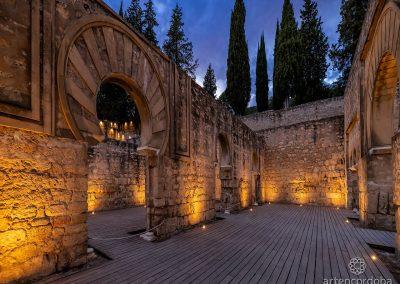 Salón Basilical de Medina Azahara por la noche