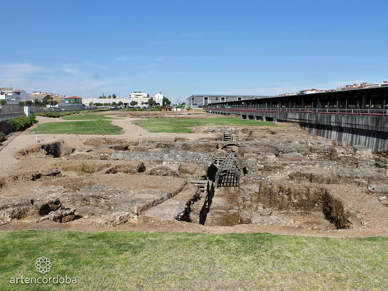 Restos arqueológicos del Palacio de Maximiano Hercúleo en Córdoba