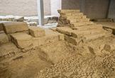 Restos del antiguo Teatro Romano en el Museo Arqueológico de Córdoba