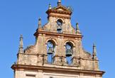 Espadaña que corona la iglesia del Santuario de la Fuensanta en Córdoba