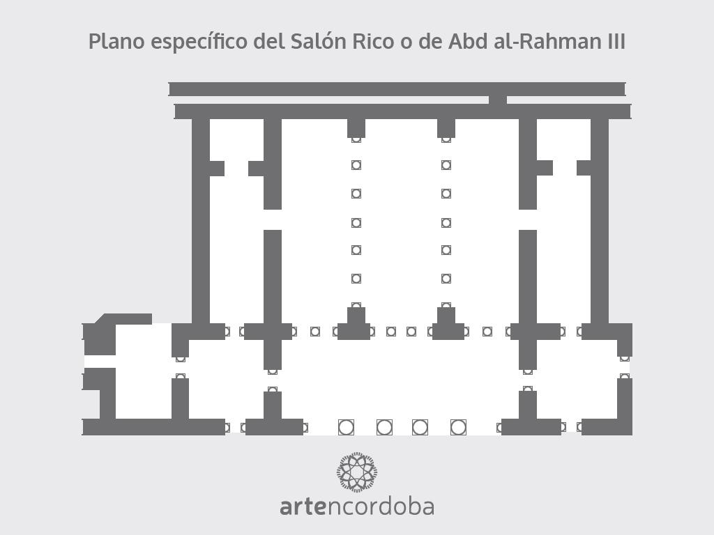 Plano del Salón Rico o de Abd al-Rahman III de Medina Azahara