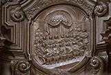 Relieve de una escena del Antiguo Testamento en la Sillería de Coro de la Mezquita-Catedral de Córdoba