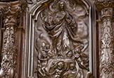 Uno de los relieves de la Sillería de Coro de la Mezquita-Catedral de Córdoba