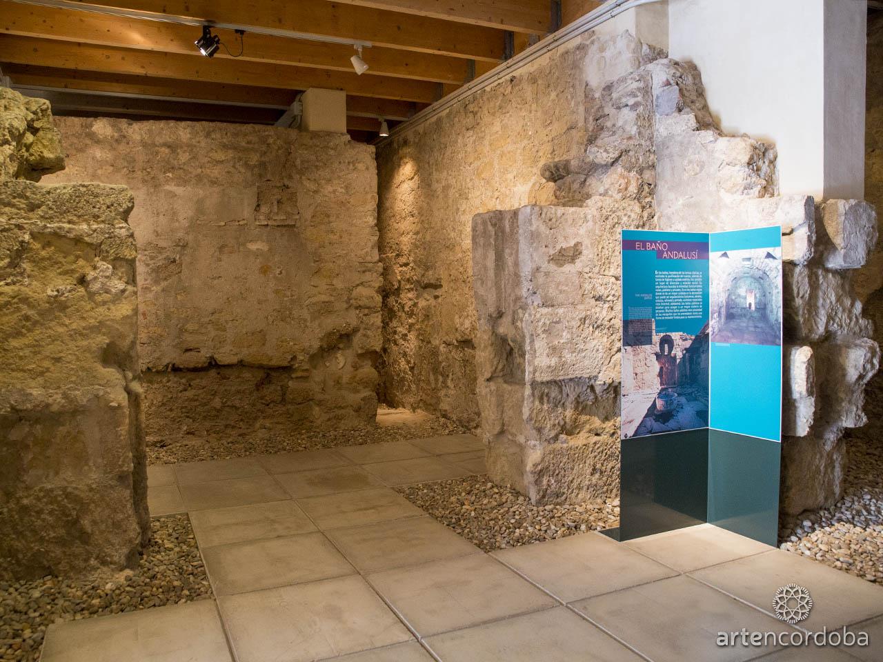 Sala dedicada al 'Baño Andalusí' en los Baños Árabes del Alcázar Califal (Baños Califales) de Córdoba