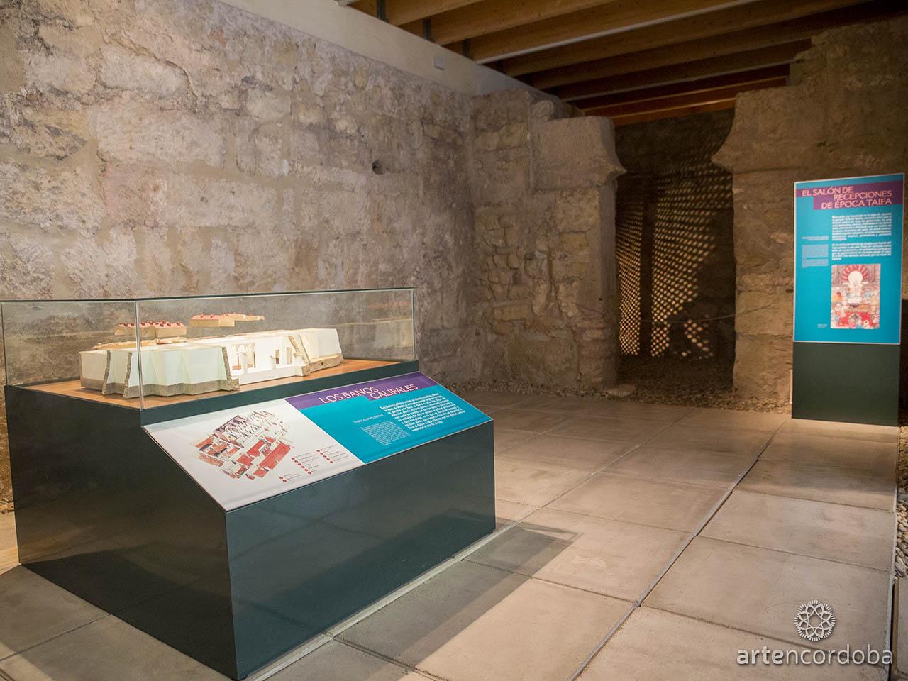 Sala dedicada al 'Baño Taifa' en los Baños Árabes del Alcázar Califal (Baños Califales) de Córdoba