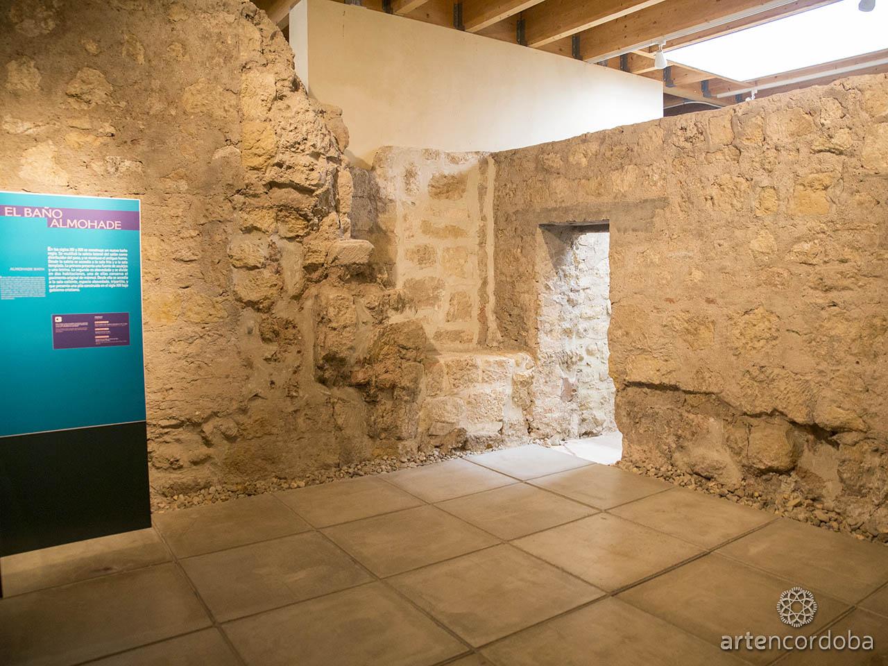 Sala dedicada al 'Baño Almohade' en los Baños Árabes del Alcázar Califal (Baños Califales) de Córdoba