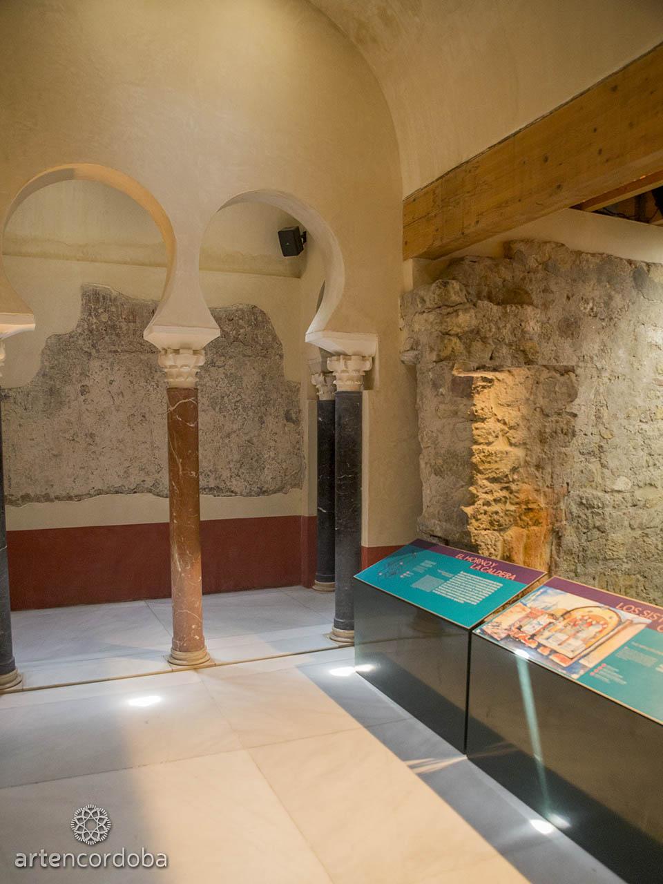 Sala dedicada al 'Baño Califal' en los Baños Árabes del Alcázar Califal (Baños Califales) de Córdoba
