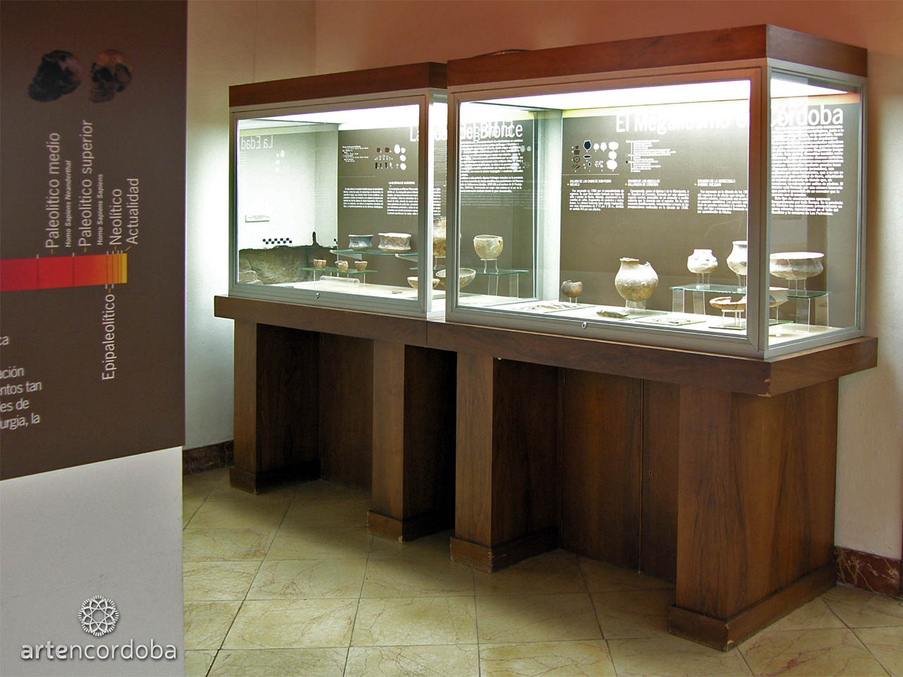Sala de Prehistoria del Museo Arqueológico de Córdoba