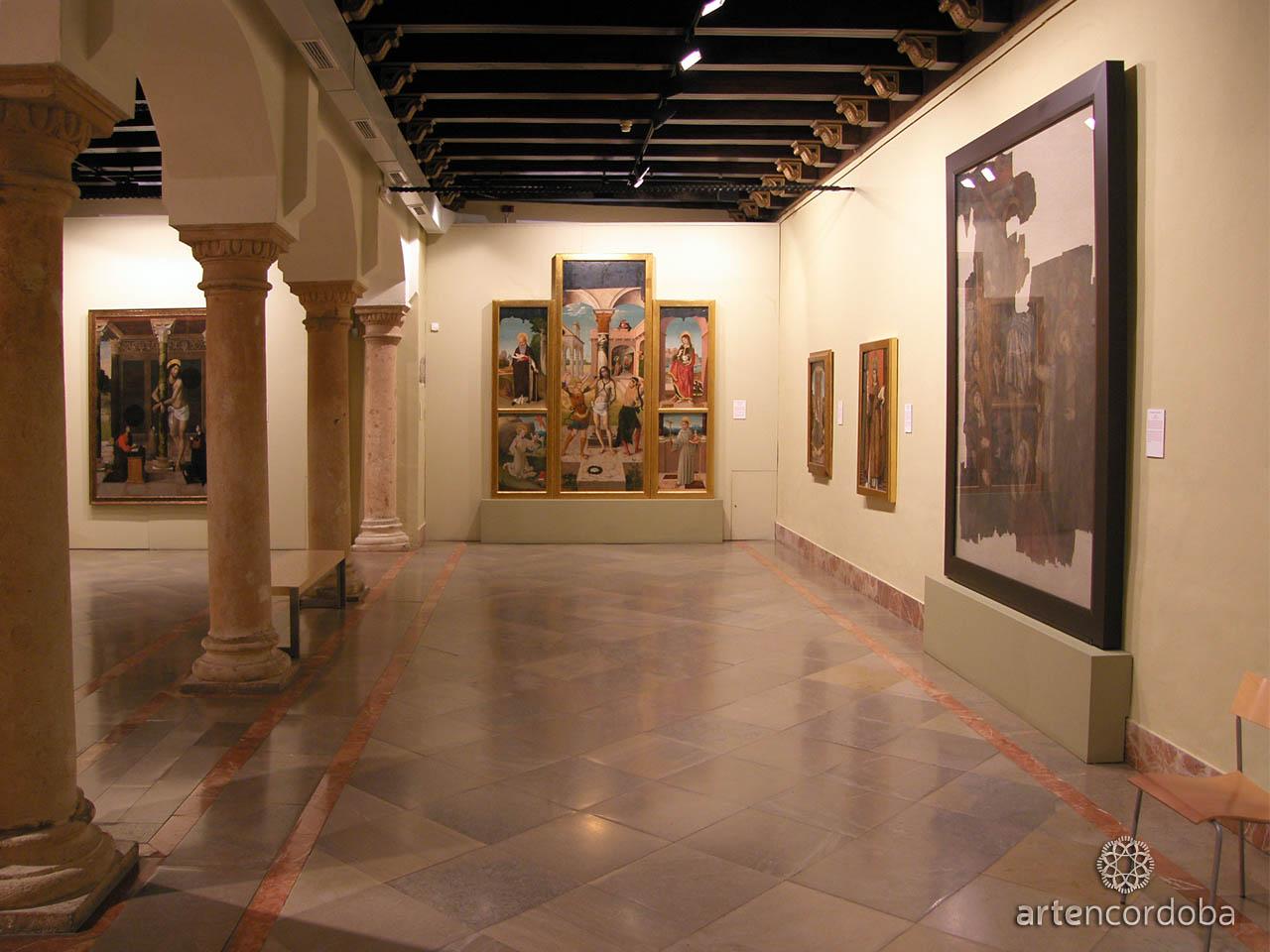 Sala 'Arte Medieval y Renacentista' en el Museo de Bellas Artes de Córdoba