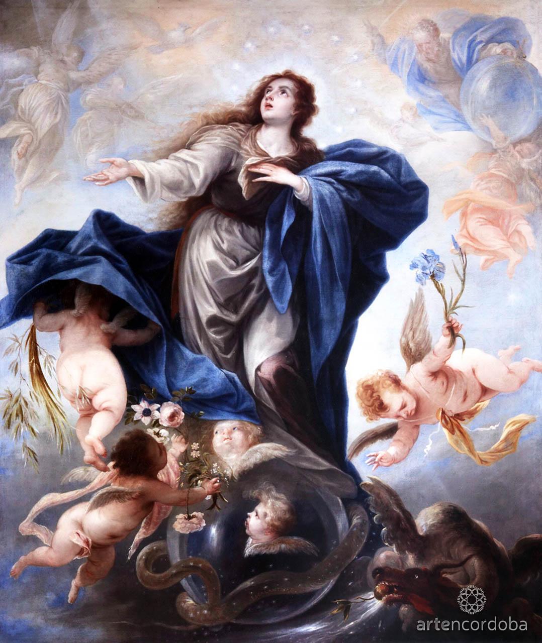 Inmaculada Concepción, óleo de Juan Antonio de Frías y Escalante