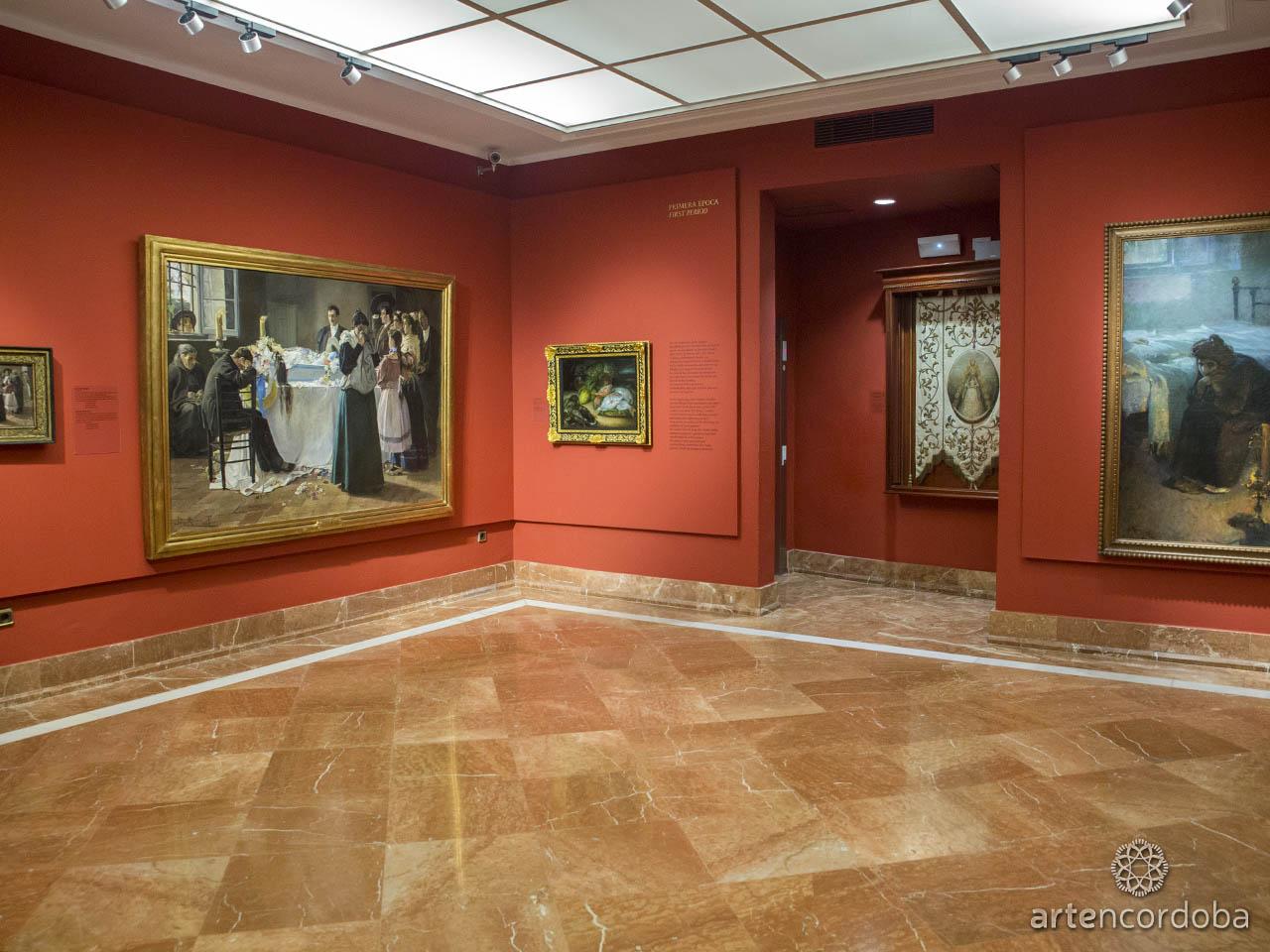 Detalle de la Sala 'Primera Época' en el Museo Julio Romero de Torres