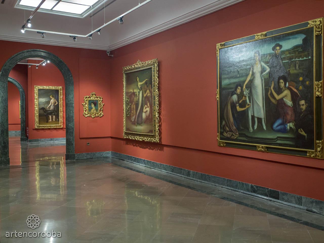 Detalle de la Sala 'El origen de lo hondo' en el Museo Julio Romero de Torres