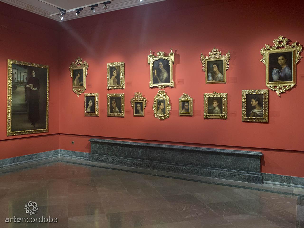 Detalle de la Sala 'Semblanzas' en el Museo Julio Romero de Torres