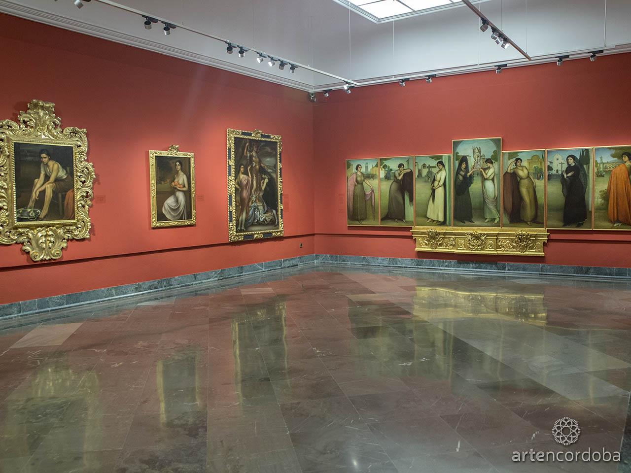 Detalle de la Sala 'La esencia de Córdoba' en el Museo Julio Romero de Torres