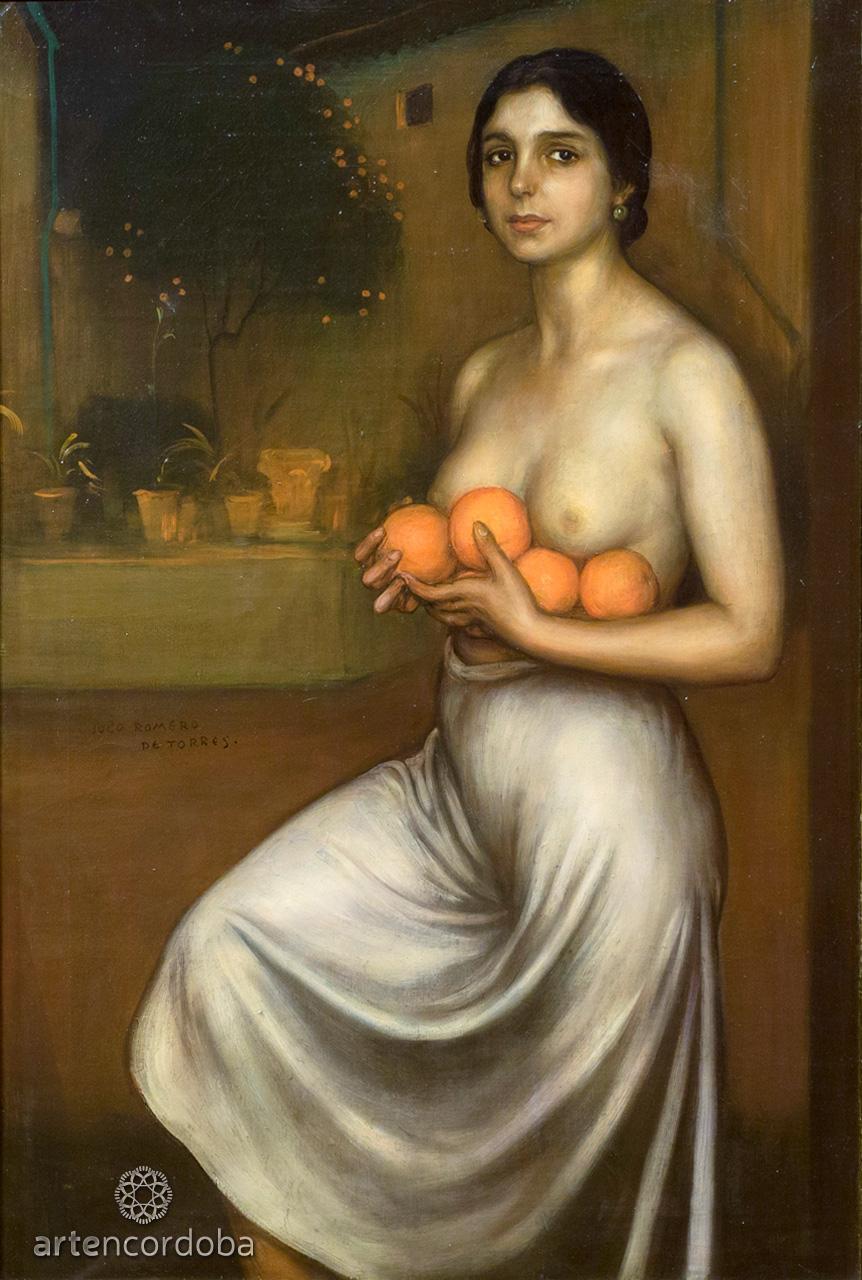 La obra 'Naranjas y limones' de la Sala 'La esencia de Córdoba' en el Museo Julio Romero de Torres