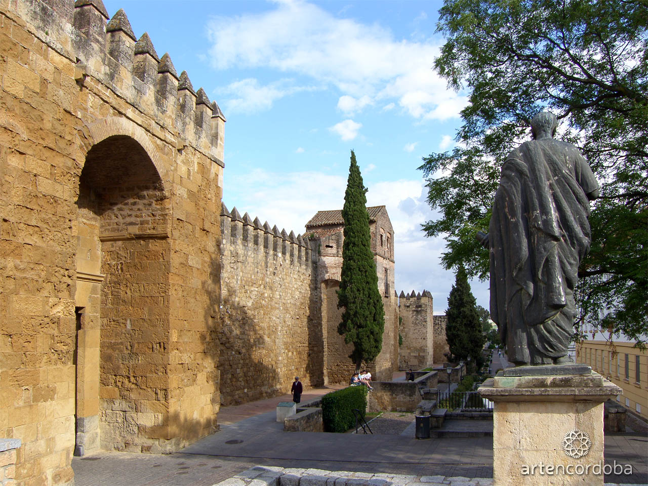 La puerta de Almodóvar, Séneca y la calle Cairuán en Córdoba
