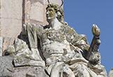 'San Acisclo' representado en el Triunfo de San Rafael de Verdiguier