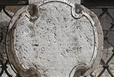 Cartela anexa a la reja que rodea al Triunfo de San Rafael de Verdiguier