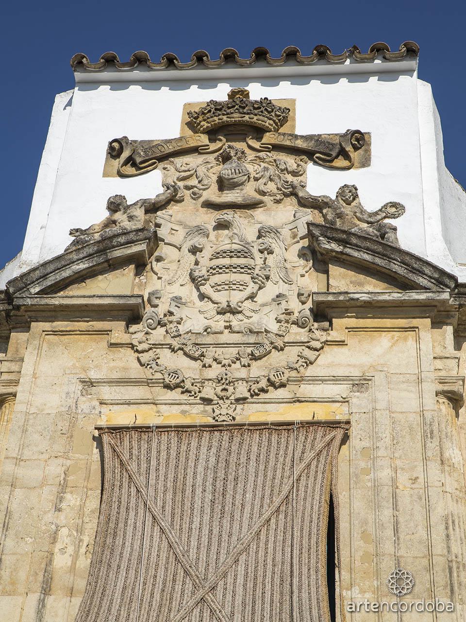 Detalle de la Portada principal del Palacio de los Marqueses de Viana en Córdoba