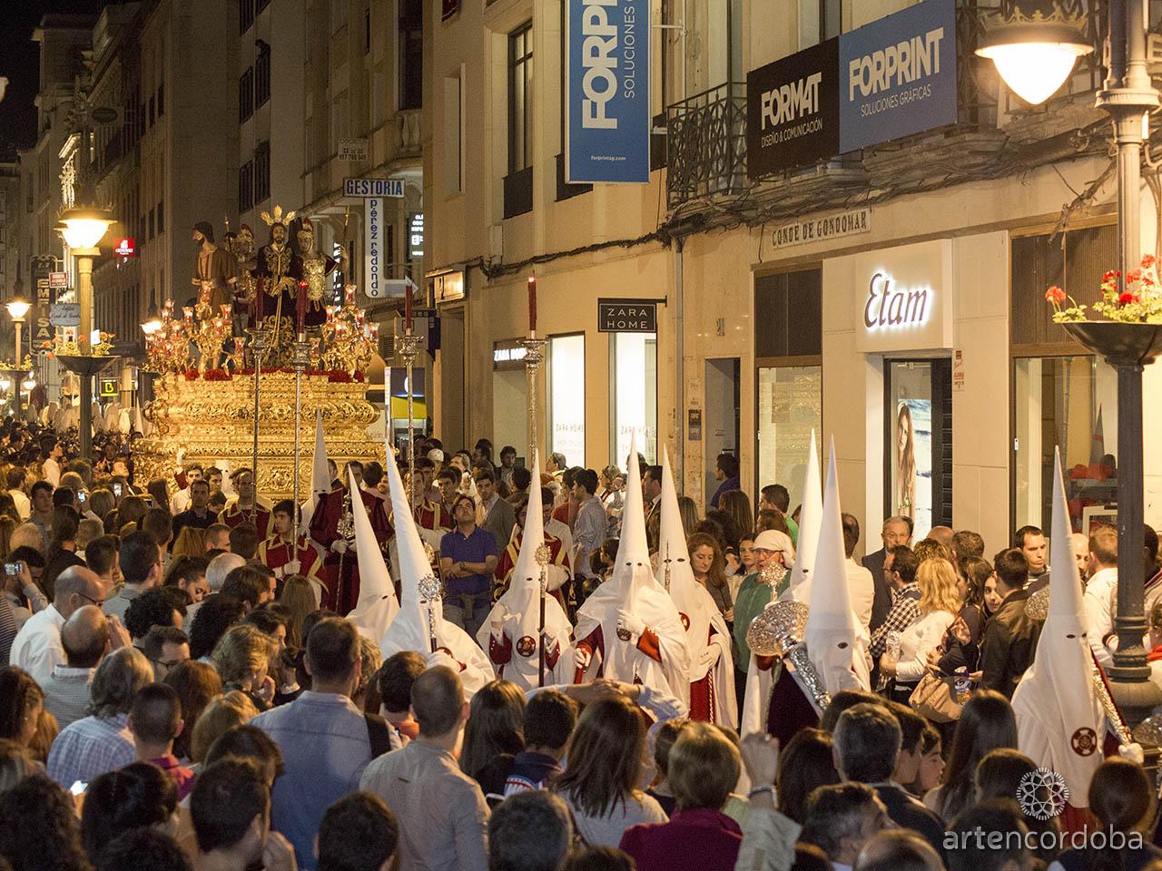 La Hermandad de la Sentencia llegando a su barrio de San Nicolás de la Villa - Semana Santa de Córdoba
